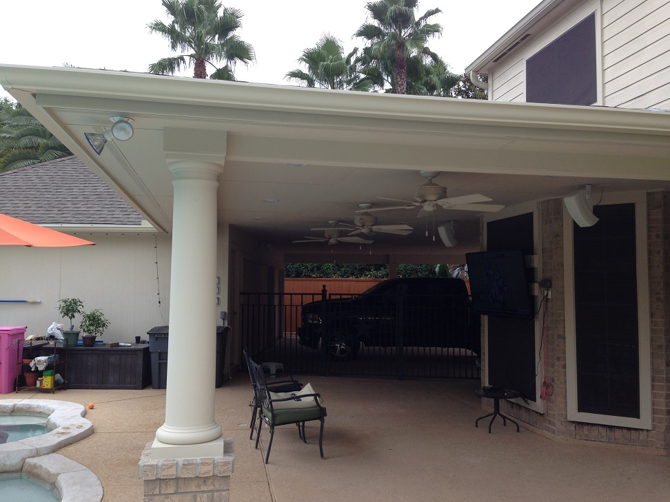 Patio cover and carport hhi patio covers for Carport deck
