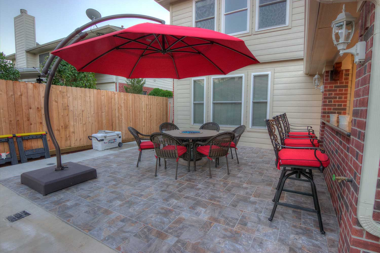 Gable Roof Patio Cover And Outdoor Kitchen Hhi Patio Covers