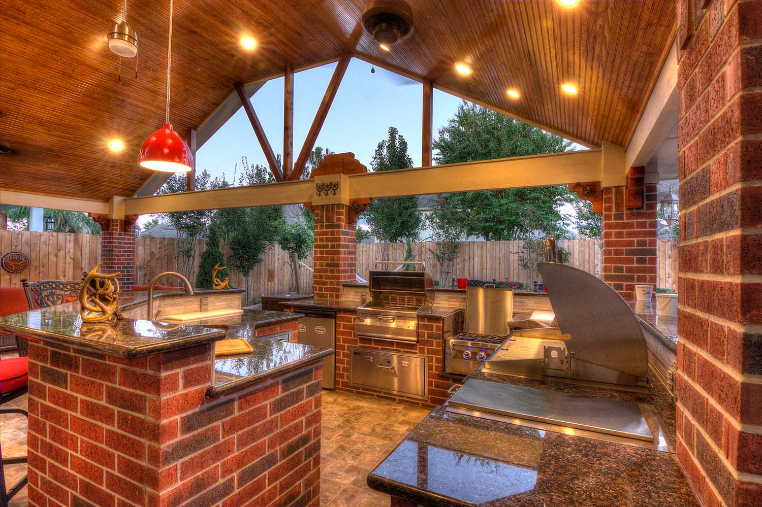 Patio Cover + Outdoor Kitchen - HHI Patio Covers on Backyard Patio Cover  id=75761