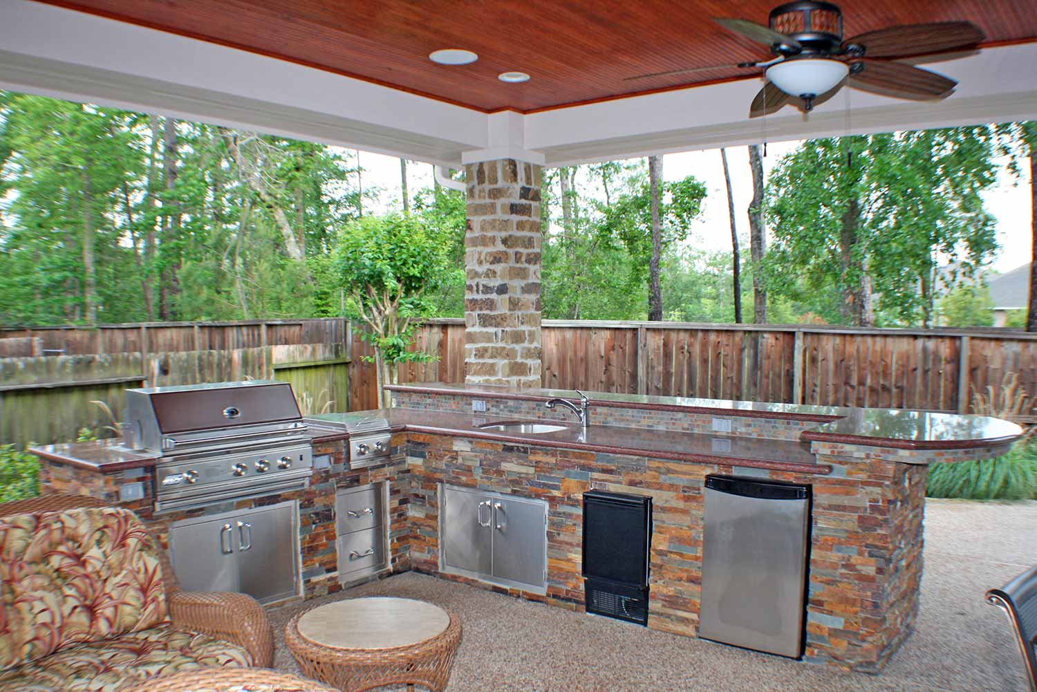 Outdoor Kitchens - HHI Patio Covers Houston on Outdoor Kitchen Patio id=22697
