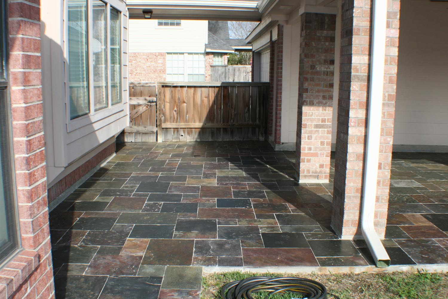 Natural Stone Floor Patio Cover And Outdoor Kitchen Hhi