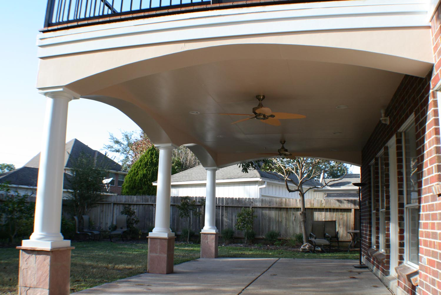 Patio Cover with Upper Deck - HHI Patio Covers
