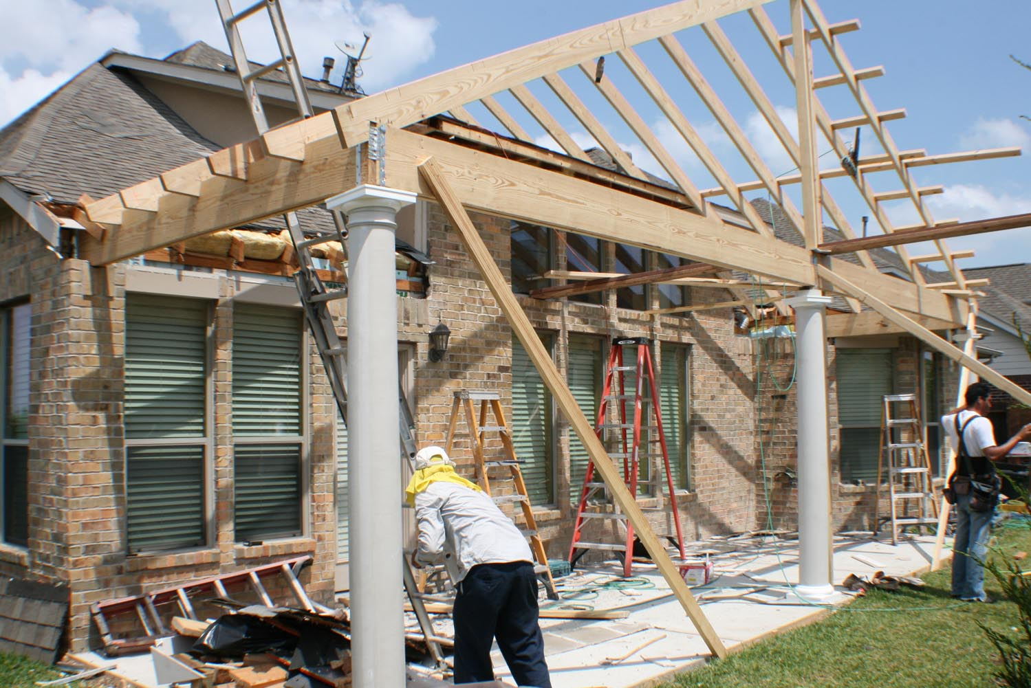 Gable Roof Patio Cover In Houston Hhi Patio Covers
