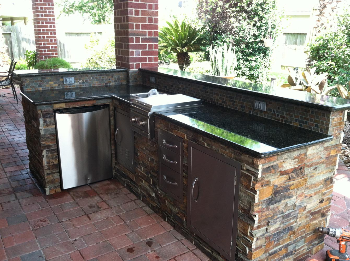 Patio Cover And Outdoor Kitchen In Houston