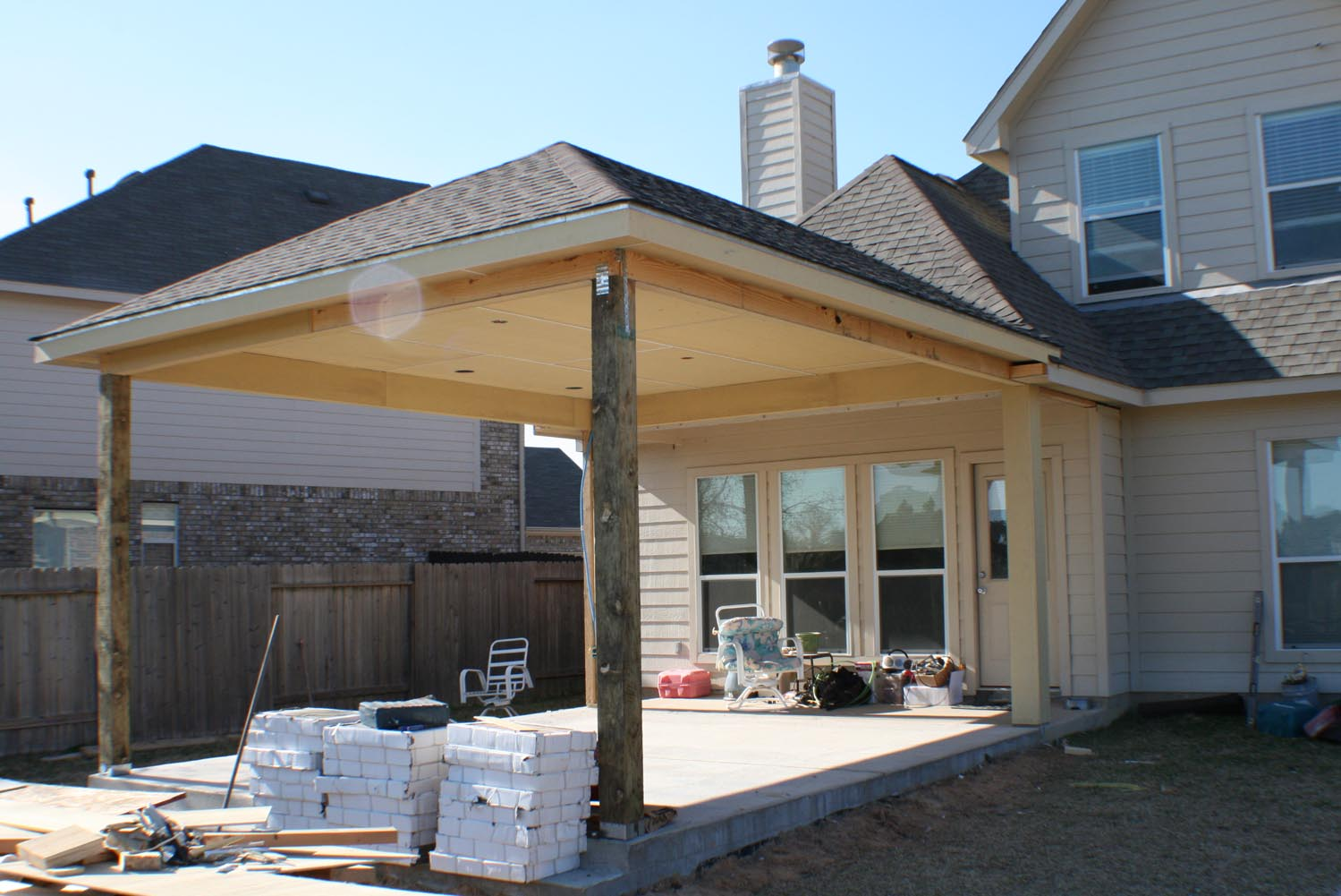 16 by 20 Patio Cover + Outdoor Kitchen - HHI Patio Covers on Backyard Patio Cover  id=64178