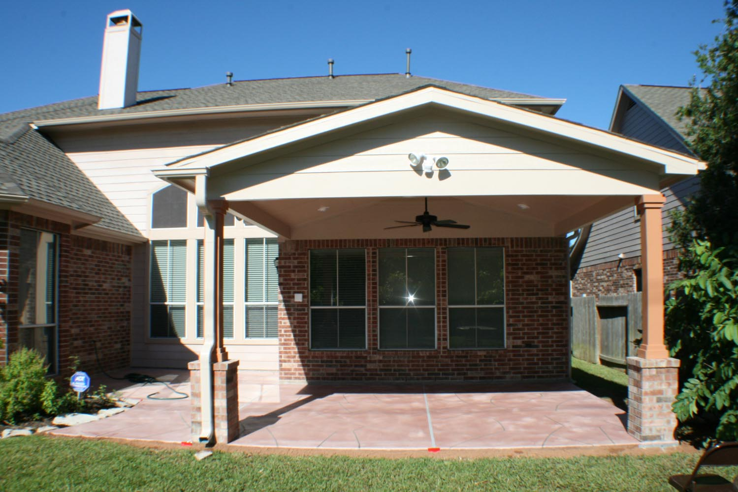 Patio Cover In Houston Gable Roof Hhi Patio Covers