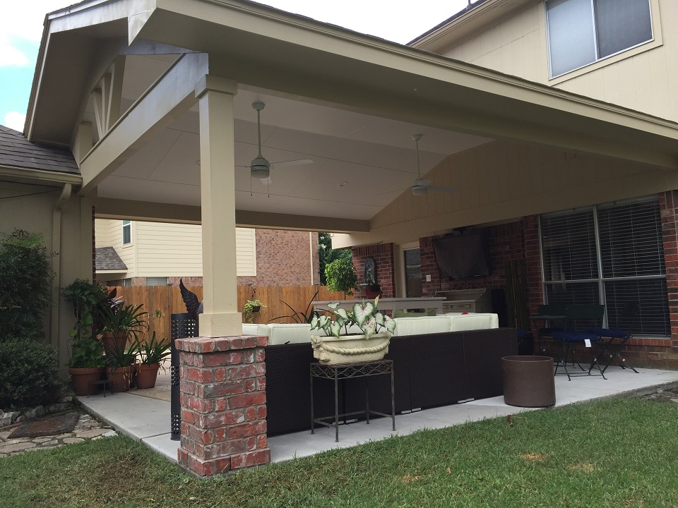 Patio Cover With Concrete Floor Hhi Patio Covers