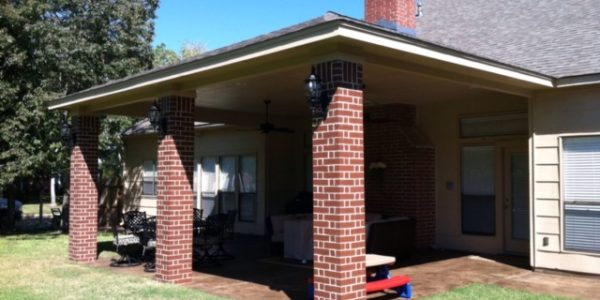 patio cover brick columns