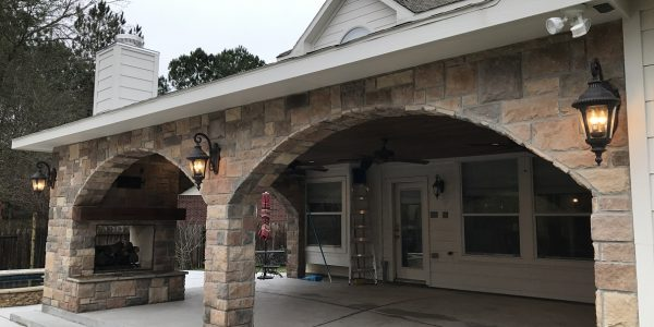patio cover with arch
