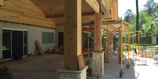 cedar wood columns