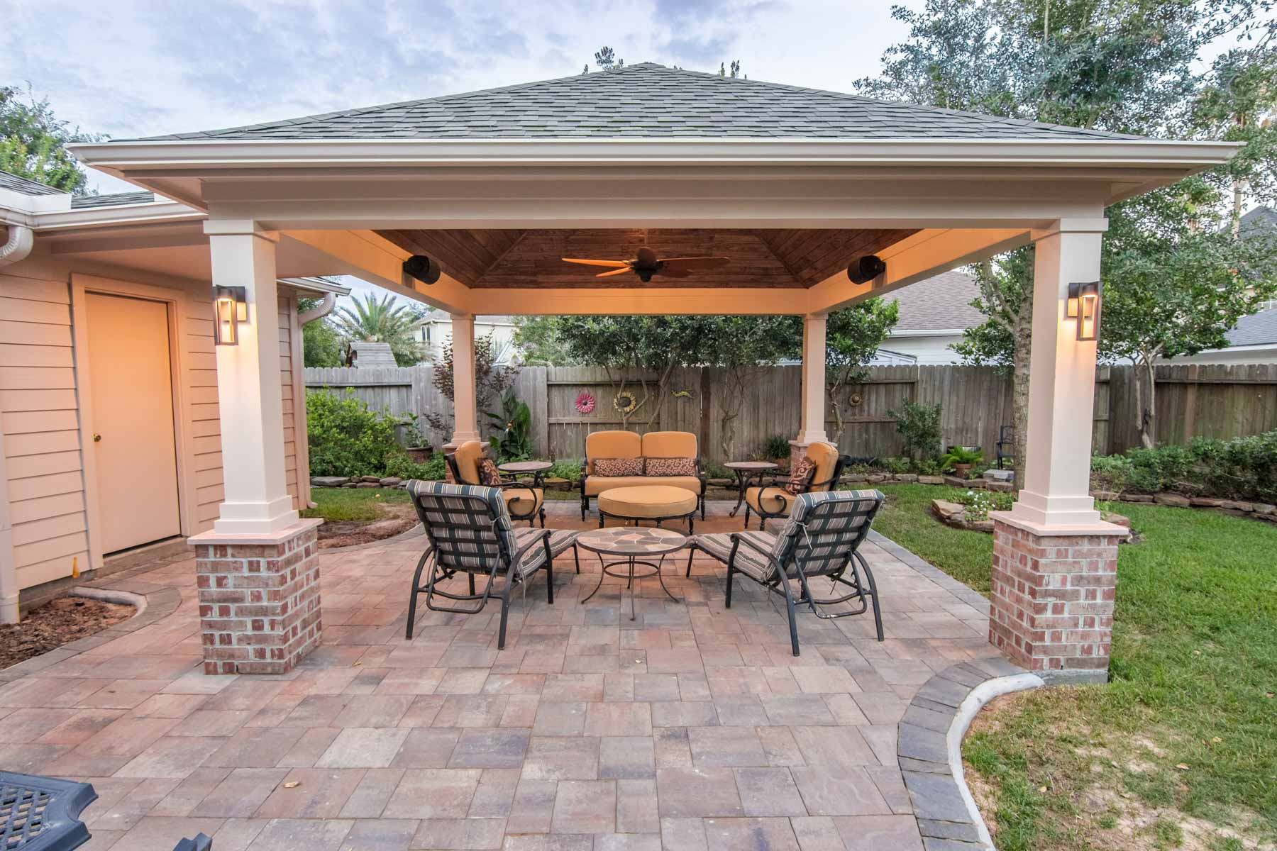 Hip Roof Patio Cover in Copperfield - HHI Patio Covers on Backyard Patio Cover  id=88090