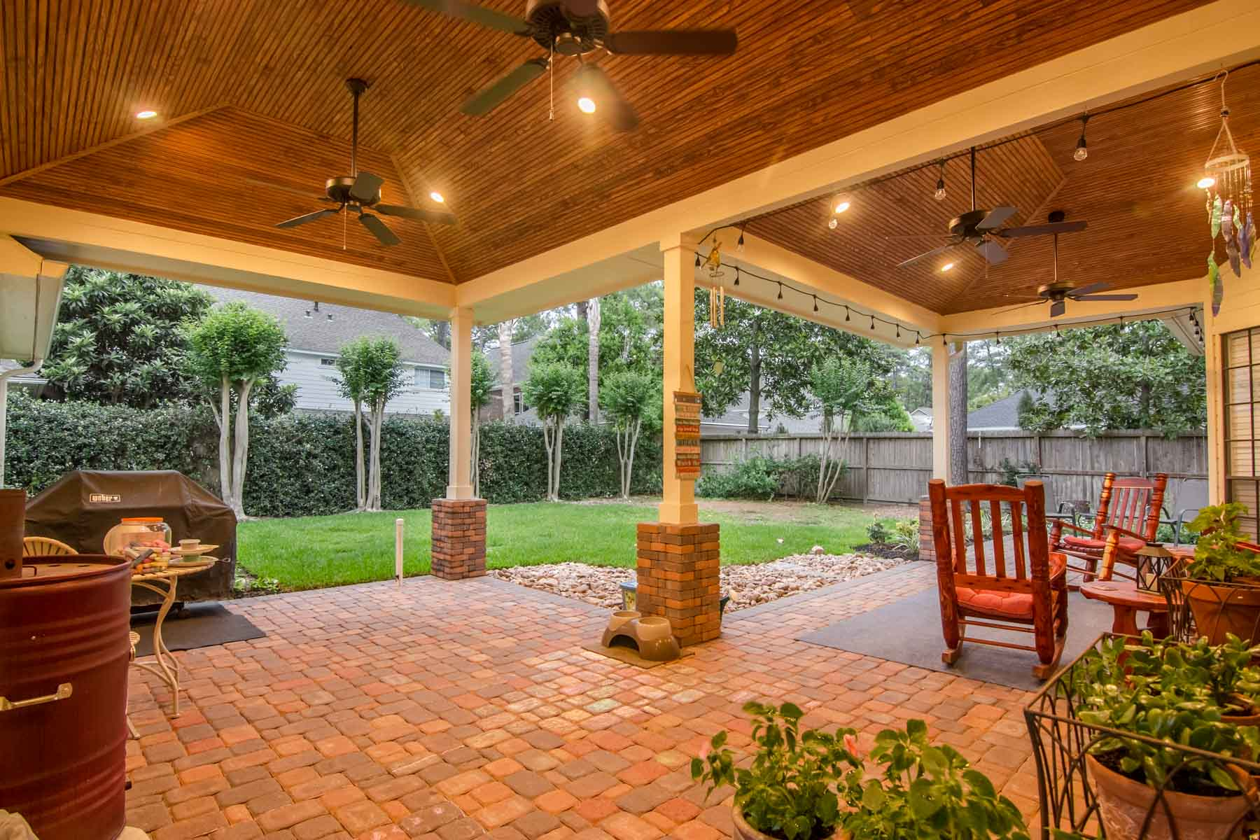 Hip Roof Patio Cover In Cypress Texas
