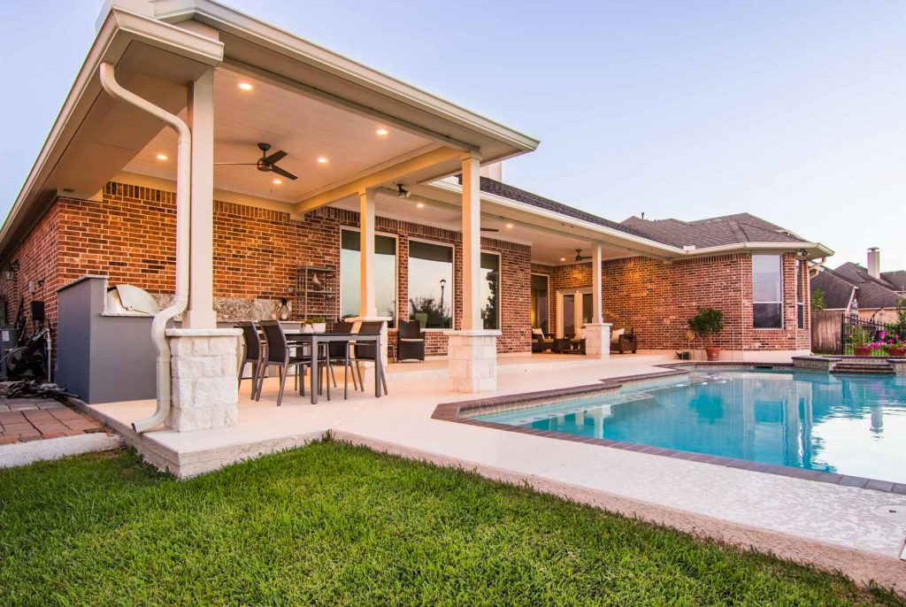 patio cover and pool