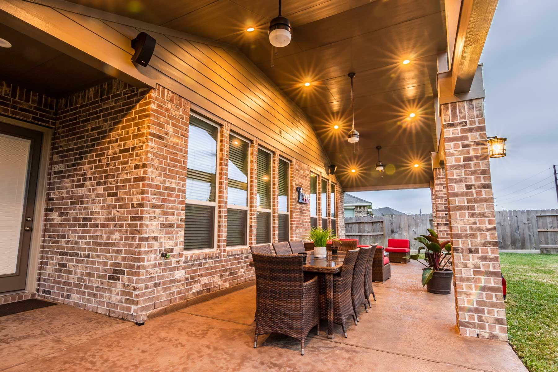 Gable Roof Patio Cover In Cypress Texas Hhi Patio Covers