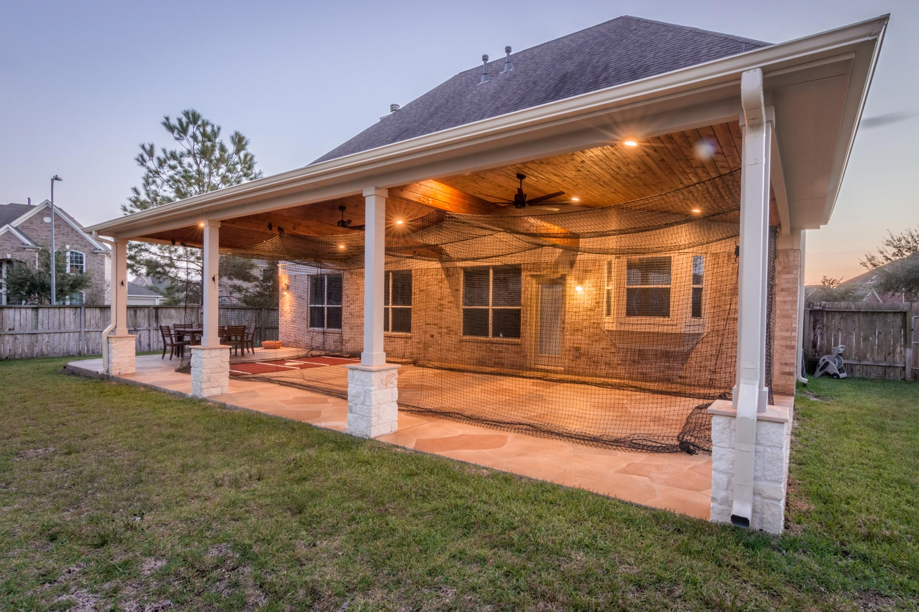 Patio Cover in Cypress, TX (with Stamped Concrete Floor ... on Ideas For Patio Covers  id=67926