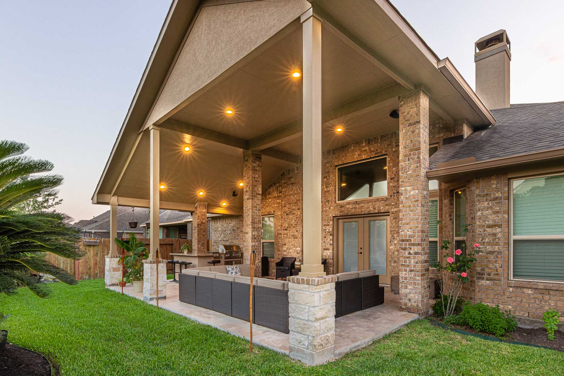 Patio Cover and Outdoor Kitchen - HHI Patio Covers on Backyard Patio Covers  id=65128